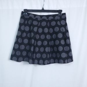 Gap Pleated Flare Mini Polka Dot Skirt